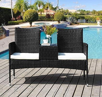 Amazon.com: Rhomtree Juego de muebles de exterior para patio ...