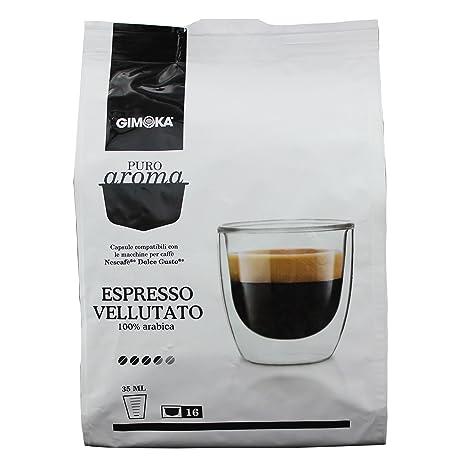 Gimoka Puro Aroma Espresso Vellutato, 100 % Café Arábica, Cápsulas de Café Nescafé Dolce