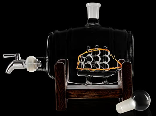 Bourbon Barrel Decanter or Whiskey Dispenser