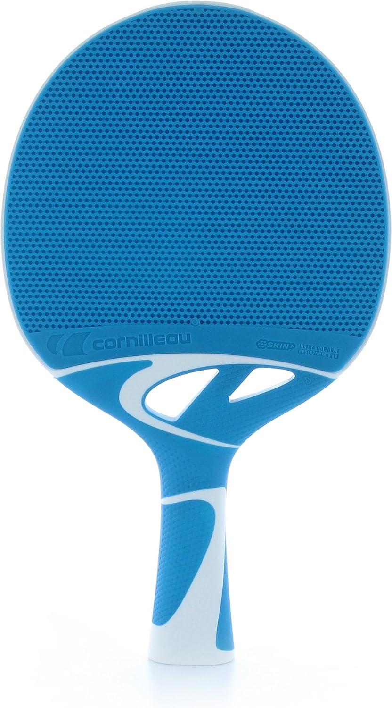 Cornilleau T30 Pala Outdoor Tenis Mesa, Juventud Unisex, Azul, 25 cm