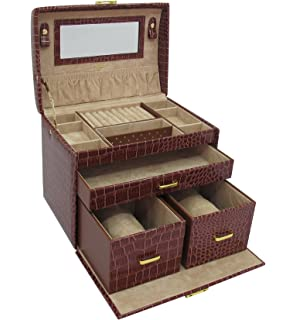 Buy Tuscan Design Brown Leather Jewellery Box For Unisex Online at