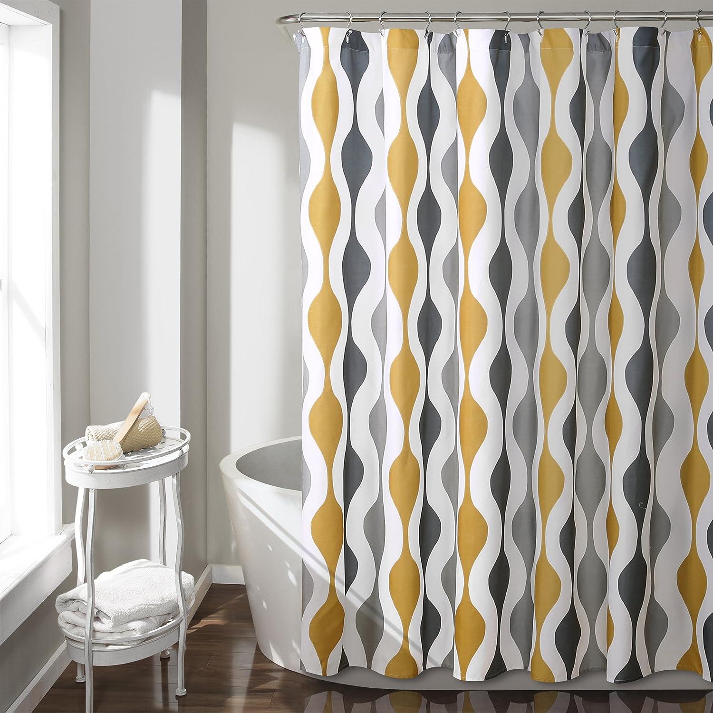 gold shower curtain rod