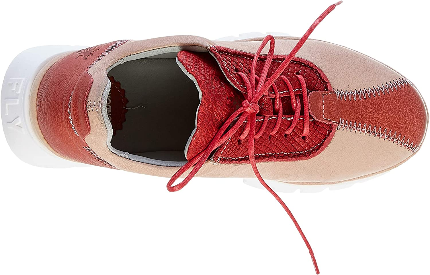 FLY London Women's Low-Top Trainers Red Red Nude Pink 004