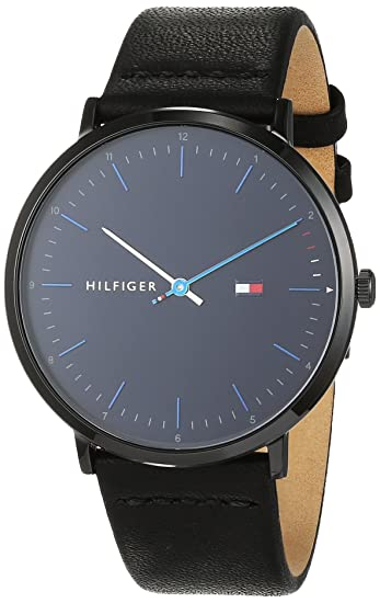 Tommy Hilfiger Reloj Analógico para Hombre de Cuarzo con Correa en Cuero 1791462: Amazon.es: Relojes