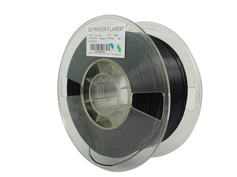 YS YS-PLA-BK-1.75-1.0 PLA Filament Compatible with Makerbot//UP//Afinia//Robo 3D printer 1.75 mm 1kg Black