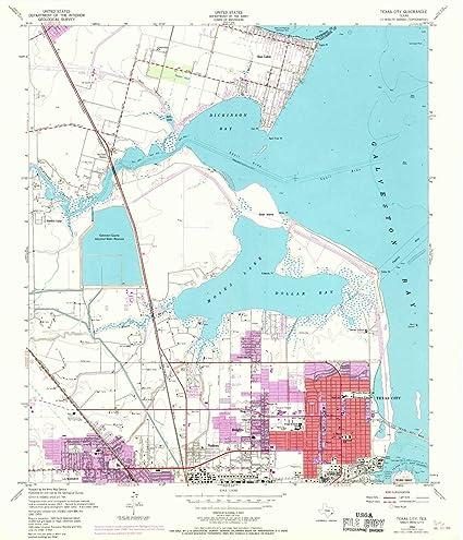 Map Of Texas City.Amazon Com Yellowmaps Texas City Tx Topo Map 1 24000 Scale 7 5 X
