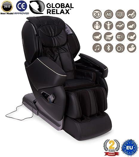 Poltrona Massaggiante Roma.Nirvana Poltrona Massaggiante Shiatsu 3d Nero Poltrona