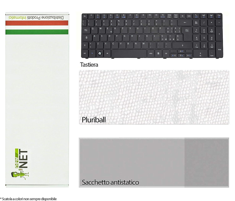New Net Tastiera Italiana Compatibile per Notebook Acer Aspire 5749ZG 5750 5750G 5750TG 5750Z 5750ZG 5800 5810 5810T 5810TG 5810TZ 5810TZG 5820 5820G 5820T 5820TG 5820TZ 5820TZG 7235 7235G