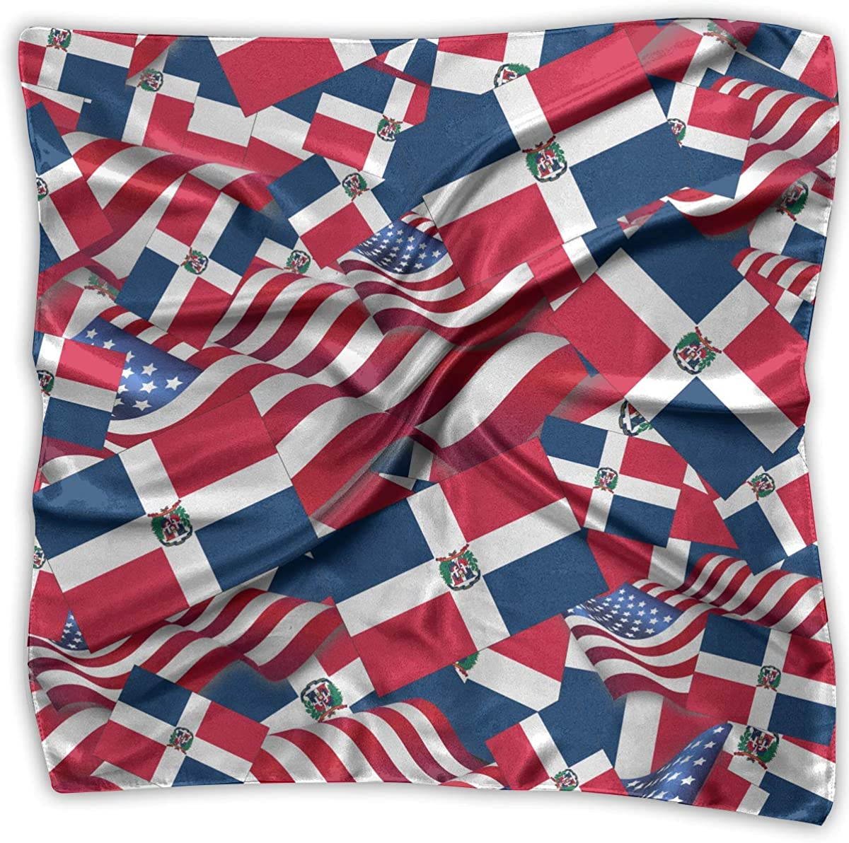 Voxpkrs Pañuelos Bufanda bandera de la República Dominicana con la bandera de América de la novedad del mantón Bandanas regalos multifuncionales del partido: Amazon.es: Ropa y accesorios