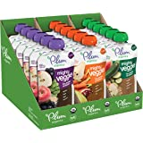 Plum Organics Mighty Veggie, Organic Toddler Food, Variety Pack, 4 ounce pouch, Pack of 18, Multi