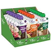 Plum Organics Mighty Veggie, Organic Toddler Food, Variety Pack, 4 ounce pouch,...