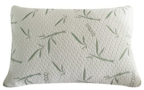 Sleep Whale - Premium Shredded Memory Foam Pillow derived from Bamboo - Luxury Design - Queen