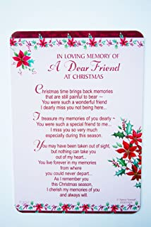 Remembering A Wonderful Friend at Christmas Grave Card