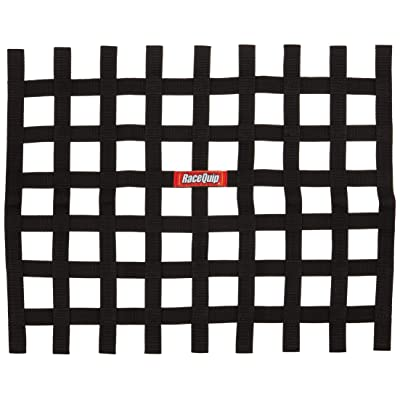 "RaceQuip 721005 Black 18"" x 24"" Height Ribbon Style Race Car Window Net: Automotive"