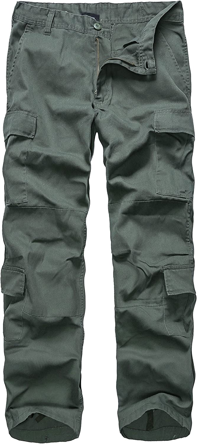 BACKBONE Mens Military Army Style Camouflage Cargo Pants for Fishing Hunting Gaming Camping: Clothing