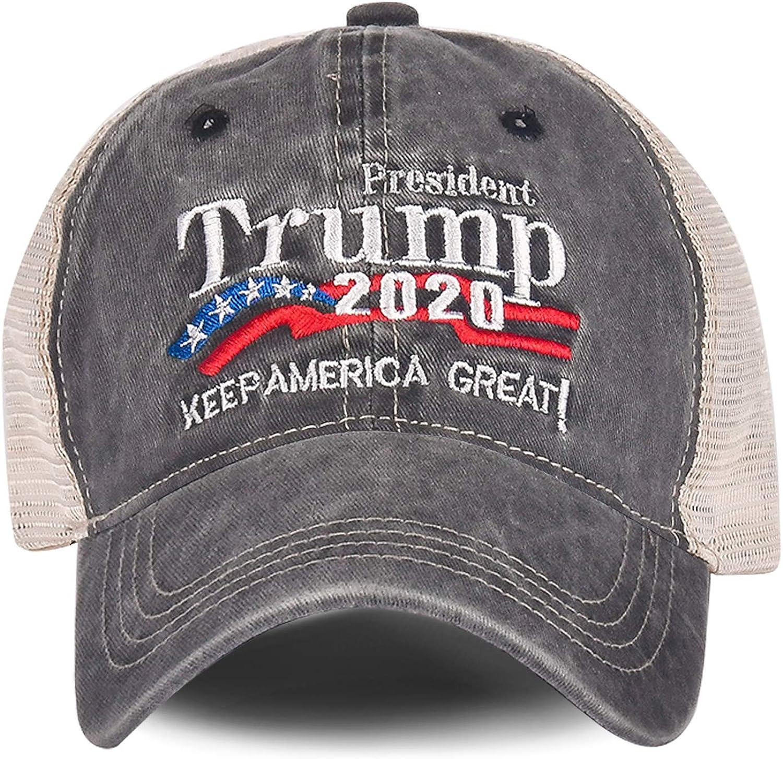 2020 Donald Trump MAGA Embroidered USA President Keep America Great Flag Hat