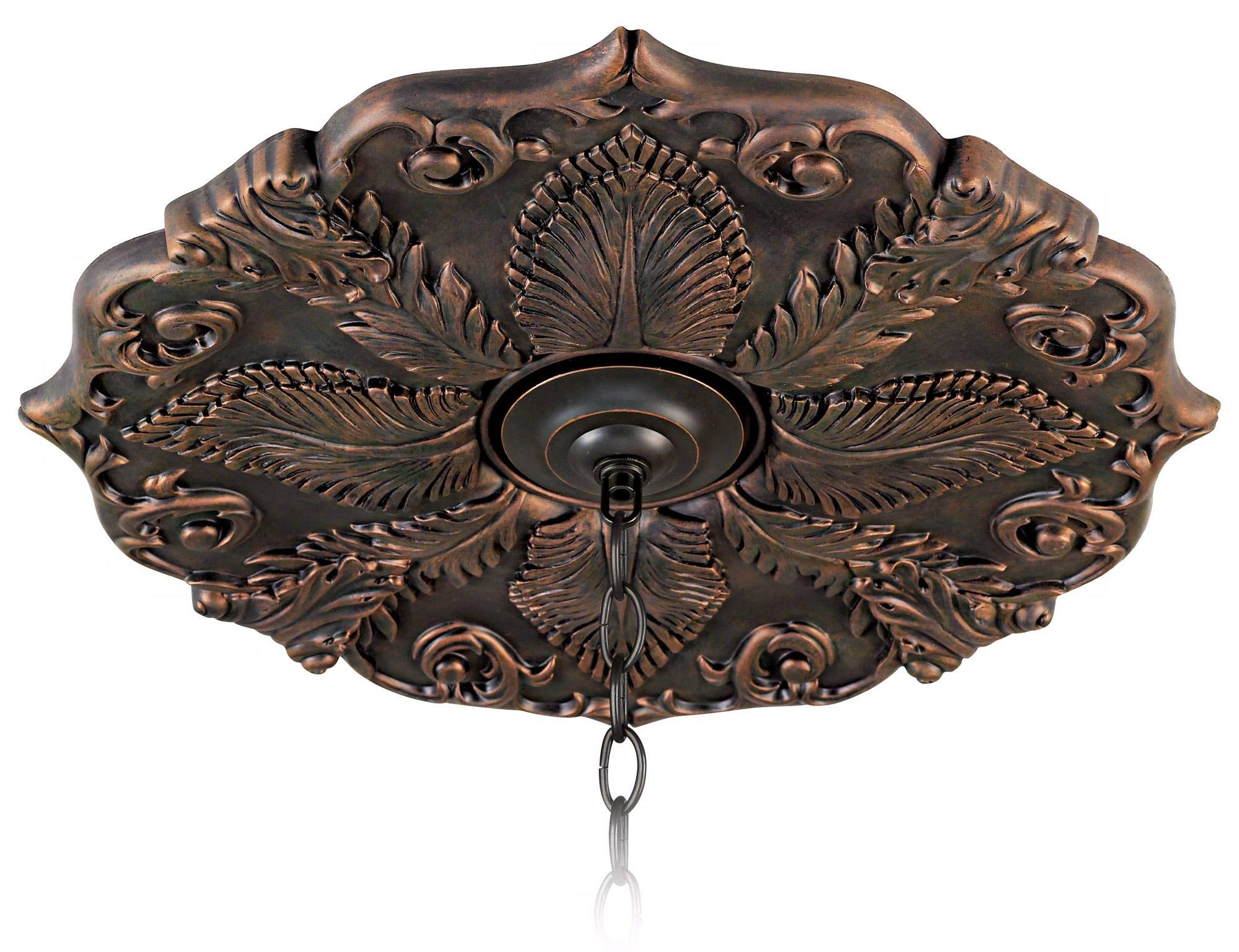 Classic Roman Bronze 24'' Wide Ceiling Medallion