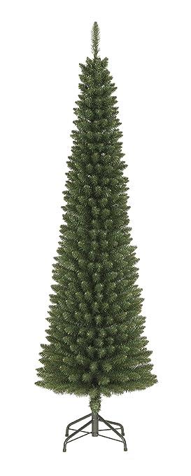 festive productions rbol de navidad artificial 2 m estrecho color verde