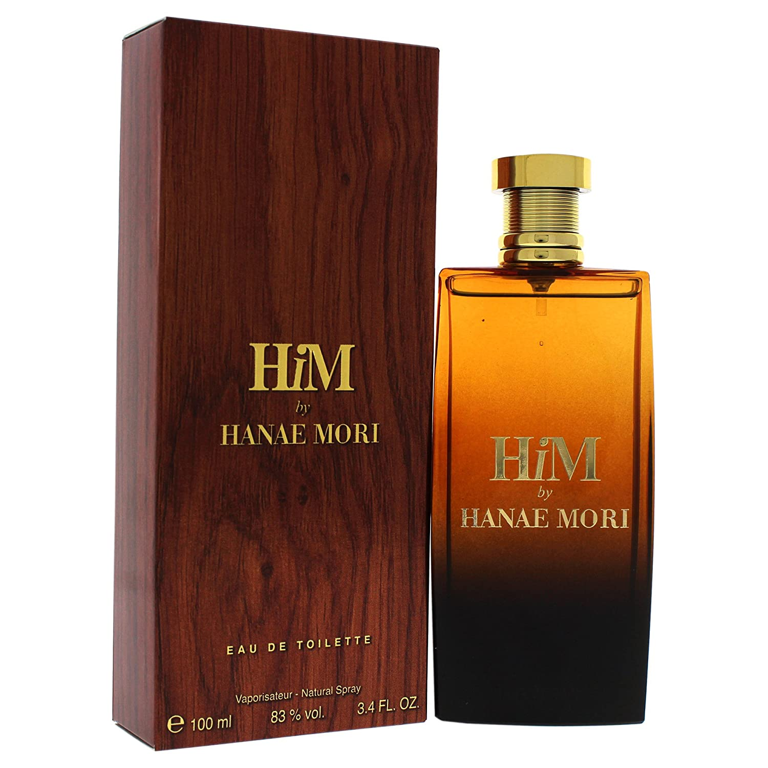 Hanae Mori Him Eau de Toilette Spray for Men, 3.4 Oz M-4607