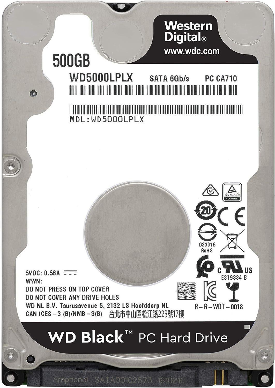 Western Digital WD5000LPLX 500GB 7200RPM SATA 6Gb//s 2.5in Laptop Hard Drive