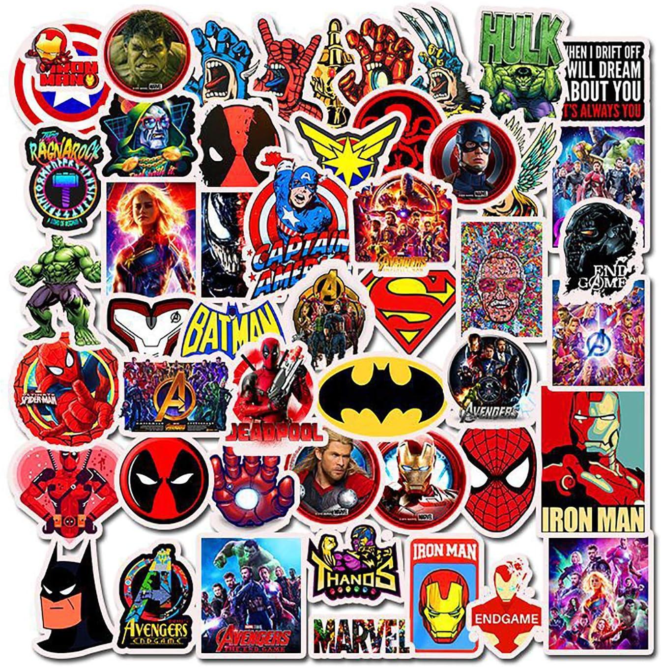 Spiderman Automobili Bicicletta motociclette Qemsele Adesivi Bambini Bagagli 100 Pezzi Supereroe Stickers Vinili Decals Adesivo Bagaglio per Computer Portatile autoadesivi paraurti Skateboard