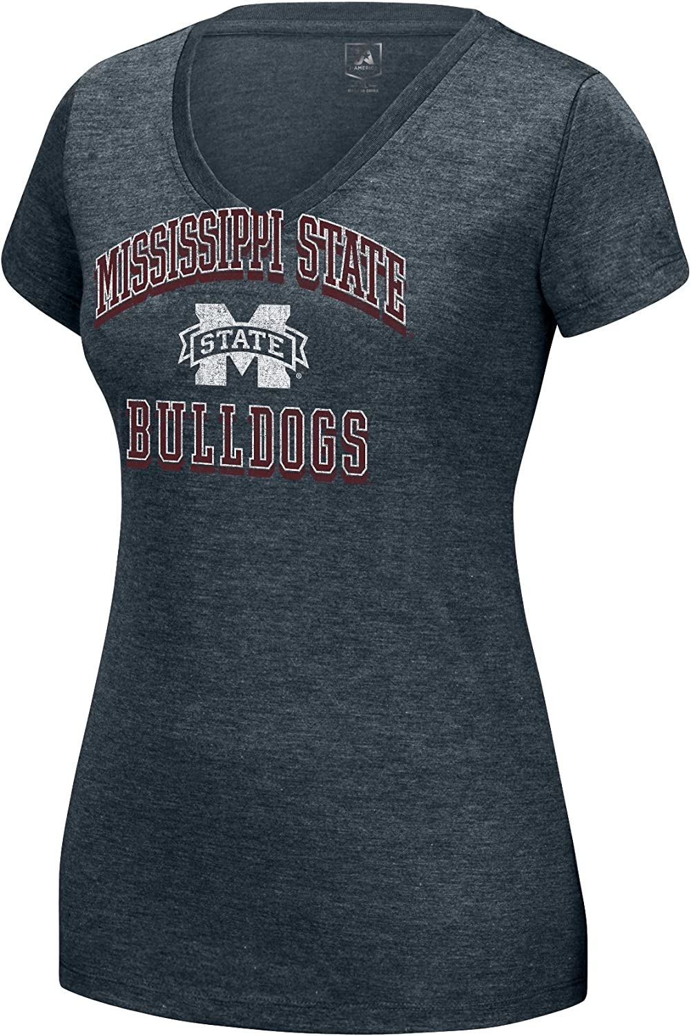 America NCAA Adult Women Distressed School Arch Heathered Grand Slam Tee J