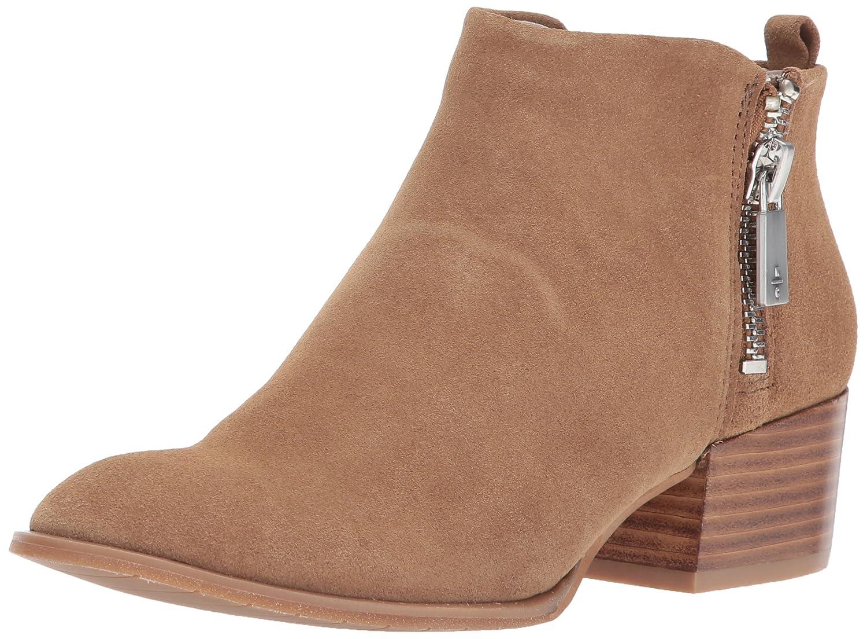 Kenneth Cole New York Women's Addy Western Double Zip Low Heel Suede Ankle Bootie B071R6T4XL 6.5 B(M) US|Almond