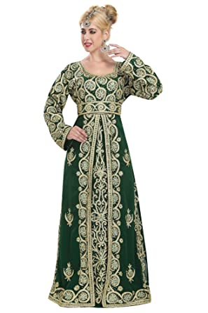 2af135a5324 Amazon.com  Moroccan Traditional Party Wear Maghribi Takchita Caftan Dress  For Women 5830  Clothing