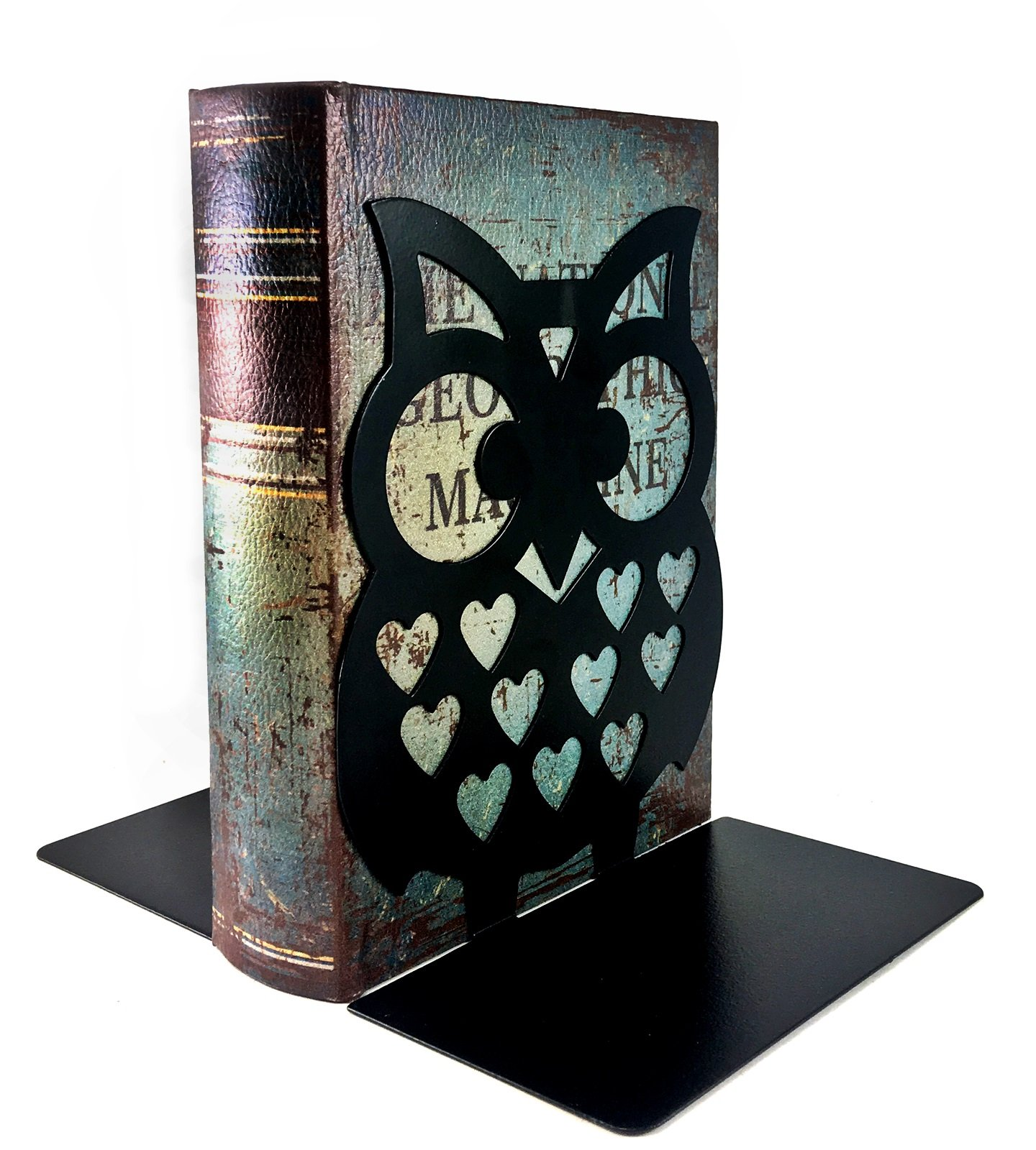 7'' Inches Tall - Owls Metal Bookends - BIG Cute Lightweight Baby Owls - Great Decor for Little Ones Nursery, Childrens Bedroom, Kids Playroom or Fun and Unique Owllover Gift