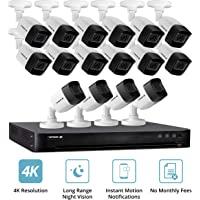 Defender 16-Camera 4K Security System With 4TB HDD DVR