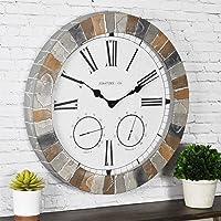 FirsTime & Co. Garden Stone Outdoor Wall Clock, 18