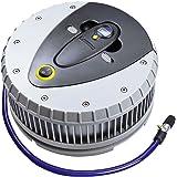 Michelin 92412 - Compresor de aire digital con pantalla de LED y medidor de la presión de las ruedas desmontable, color gris