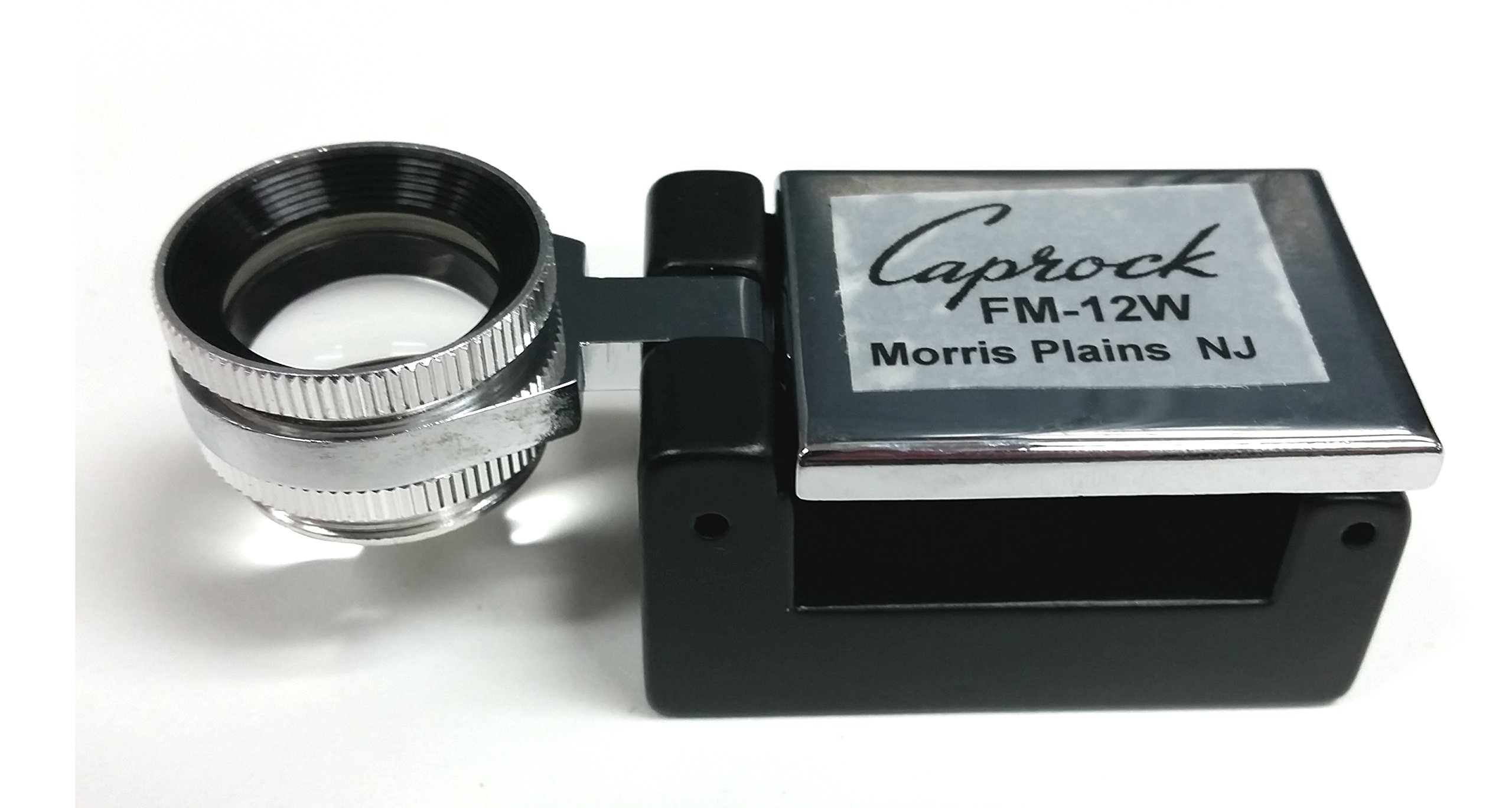 12X / 12 Power PRINTER'S FOLD-Out Magnifier/LOUPE / Loup with Extra Wide-Field Lens by Caprock