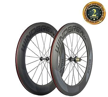 Windbreak Bike – Juego de ruedas de fibra de carbono para bicicleta de carretera – 88 mm – 700 c – 23 mm de ancho: Amazon.es: Deportes y aire libre