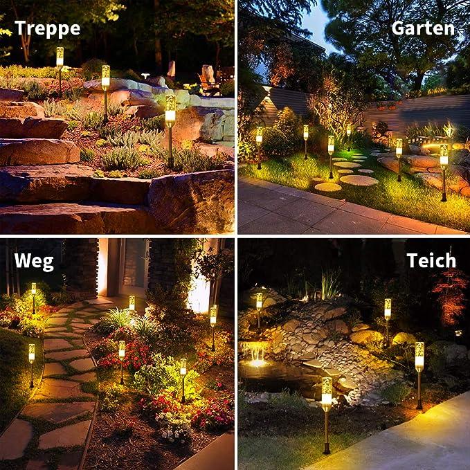 Luz blanca cálida para el jardín (6 unidades).: Amazon.es: Iluminación