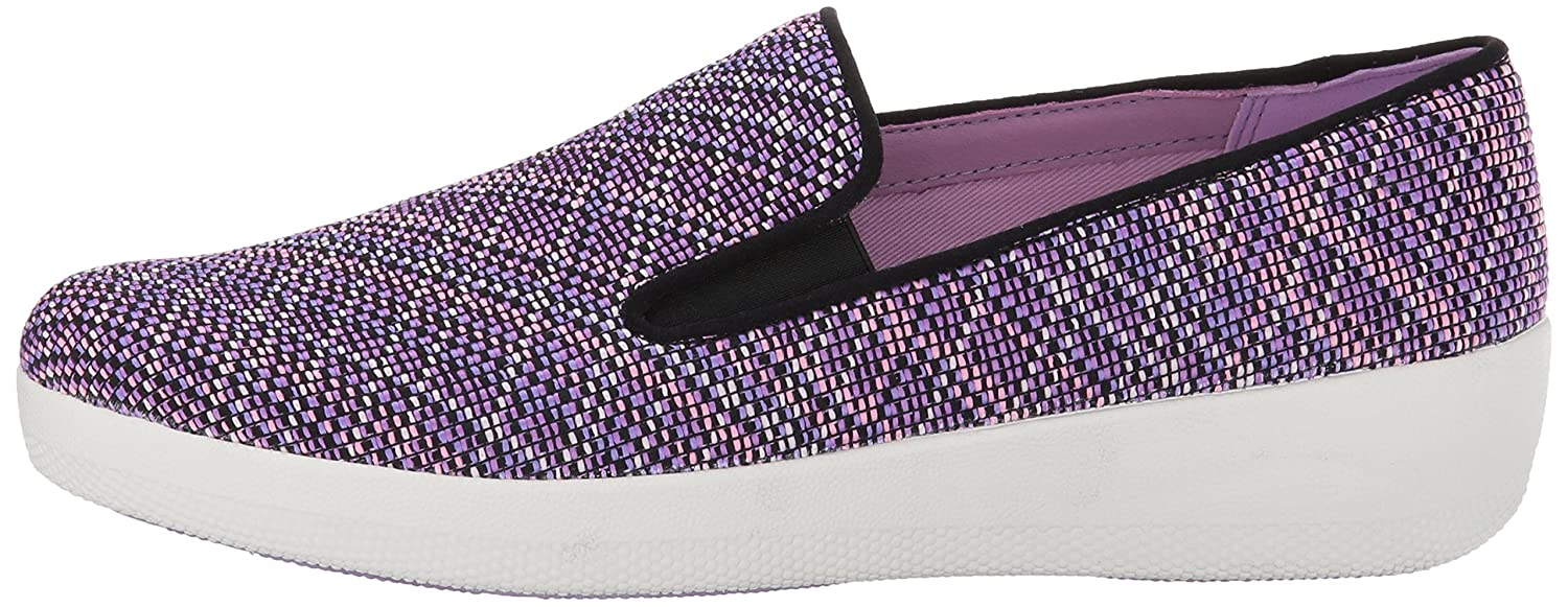 FitFlop Women's Superskate Twill Knit Flat B06XY3WPQX 6 B(M) US|Violet Mix