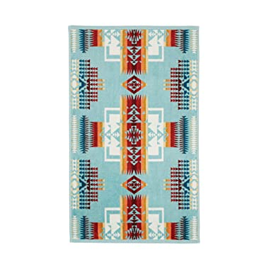 Pendleton Chief Joseph Jacquard Hand Towel - Aqua, One Size