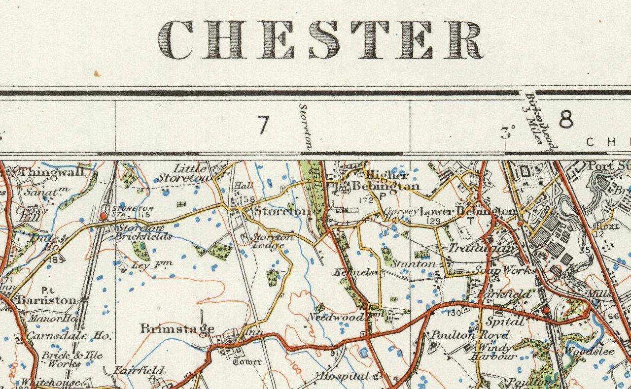 Carte Dangleterre.Taille 73 X 100 Cm Chester Carte Detat Major Dangleterre Et