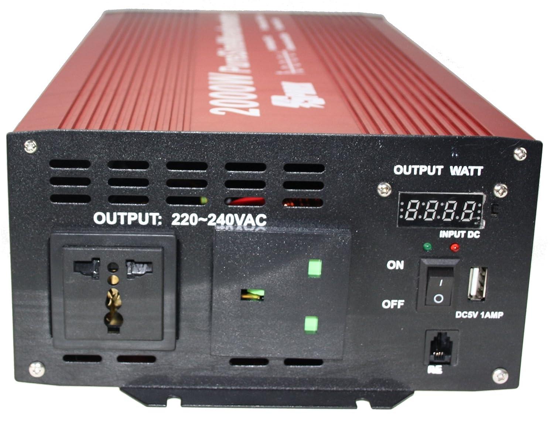 2000/W, onda sinusoidal pura de 24/V y pico de 4000/W Inversor de corriente Spark