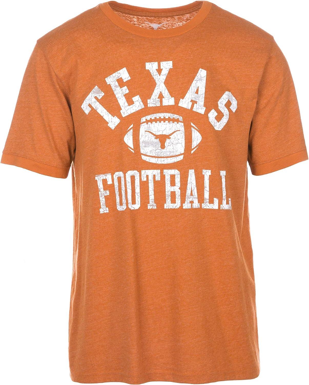 University of Texas Authentic Apparel Webster Mens Short Sleeve Football Tee