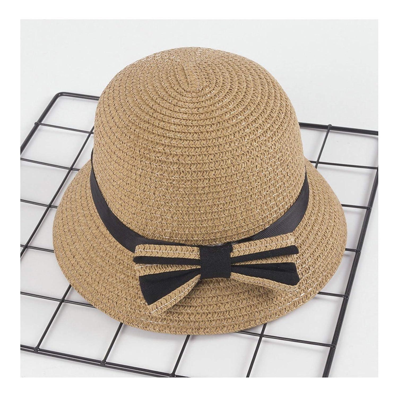 AiZnoY Sommerhut Sonnenhut am Strand Oder Im Urlaub UV Schutz Faltbar Verstellbar Strohhut Wei/ß