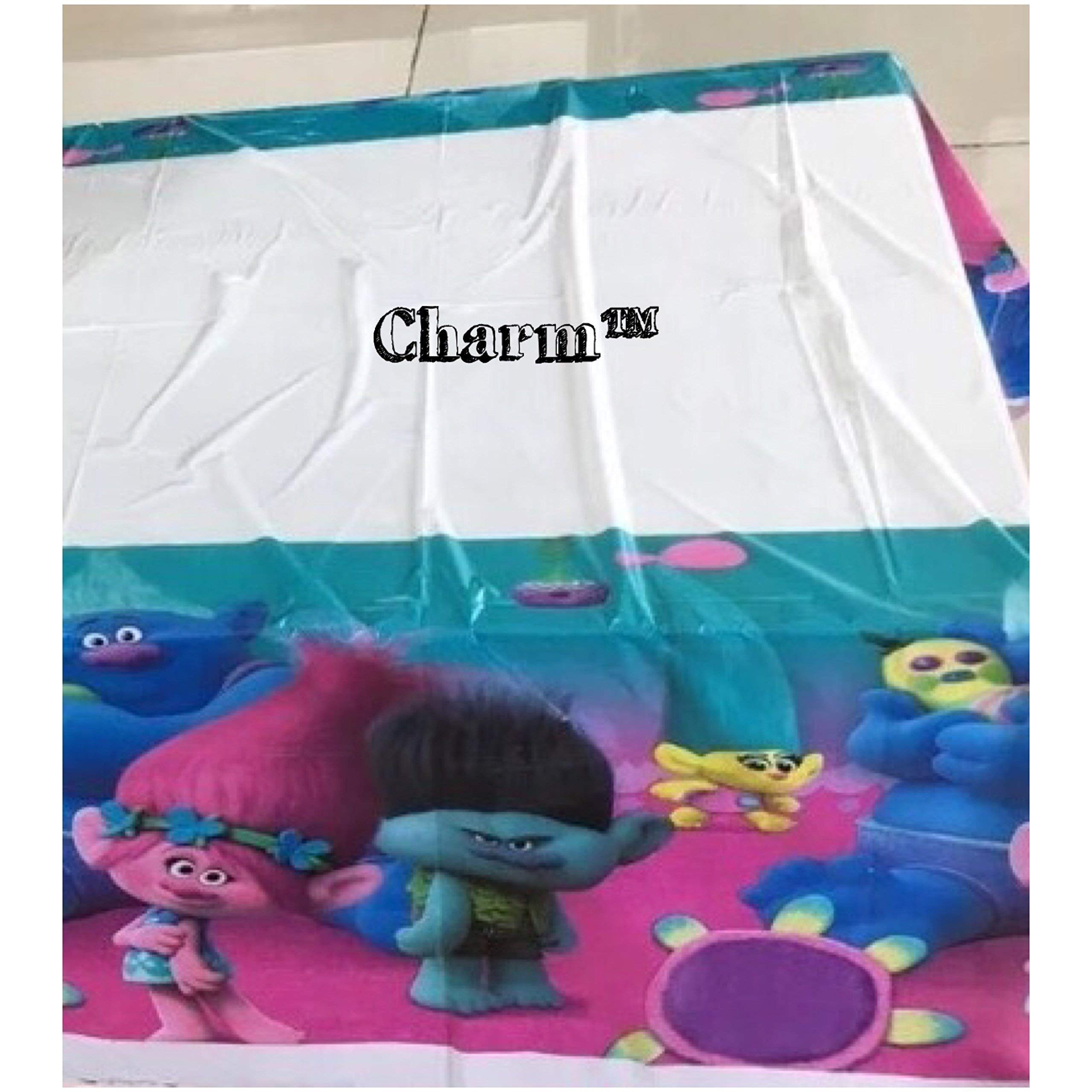 CharmTM TR Set of 2 Tablecloths Plastic 42'' X 70'' Kids Birthday Party Decoration