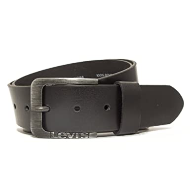 Levis 219589 Homme Ceinture en cuir 40 mm de largeur pour pantalons de  jeans - Noir dd0d94b6c16