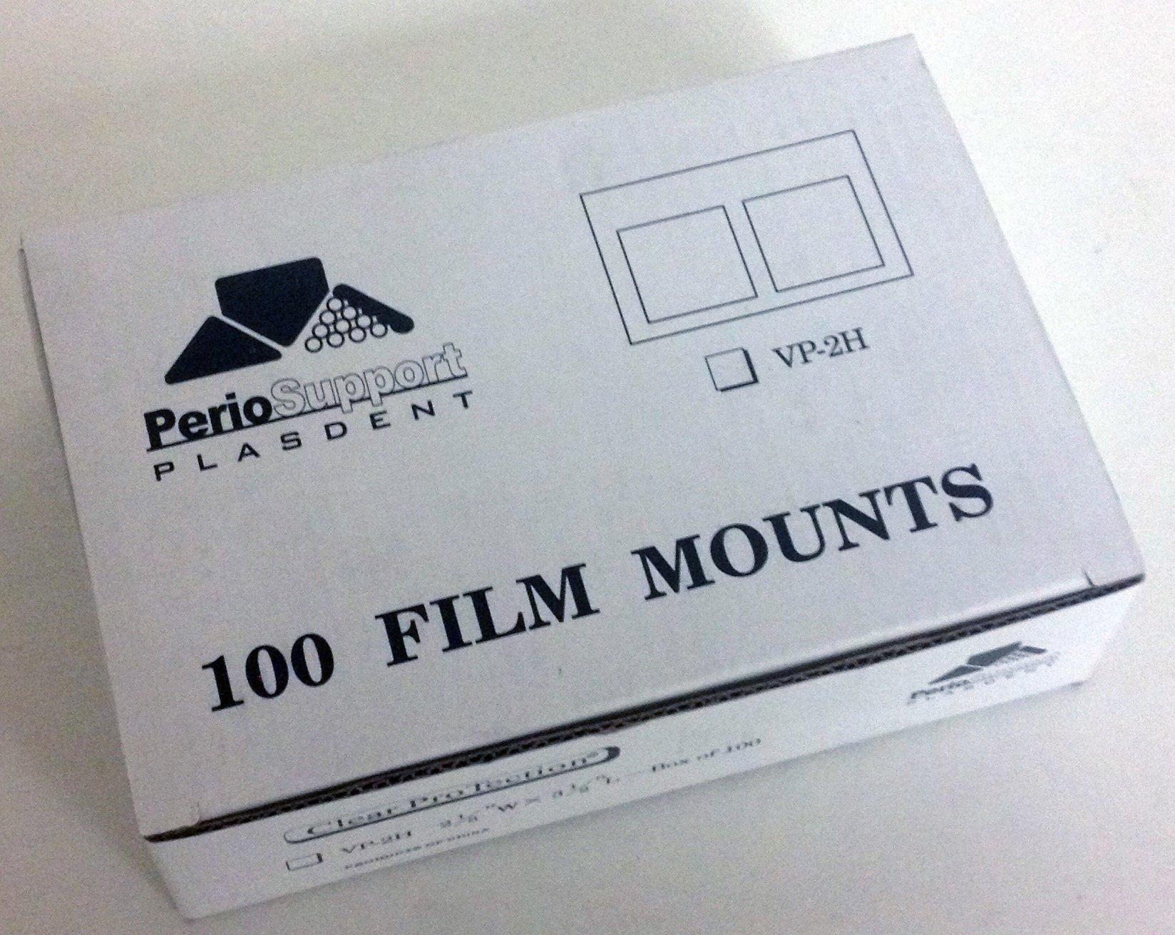 Plasdent VP-2H Vinyl Film Mounts 100/Box