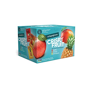 Crispy Green Freeze-Dried Fruits, Non-GMO, Gluten Free, No Sugar Added, Fruit, Tropical Variety Pack, (16 Count) (Packaging May Vary)