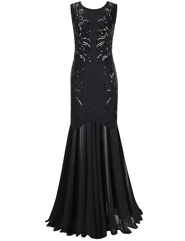 38ec33b48ab Top1  PrettyGuide Women 1920s Gown Sequin Long Flapper Evening Formal Dress