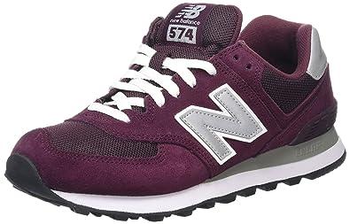 new balance 574 burgundy