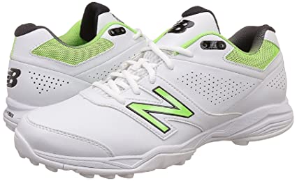 4756a0c5c593d Buy New Balance Cricket Shoes Rubber Spike White/Fluo Green 2E (UK10 ...