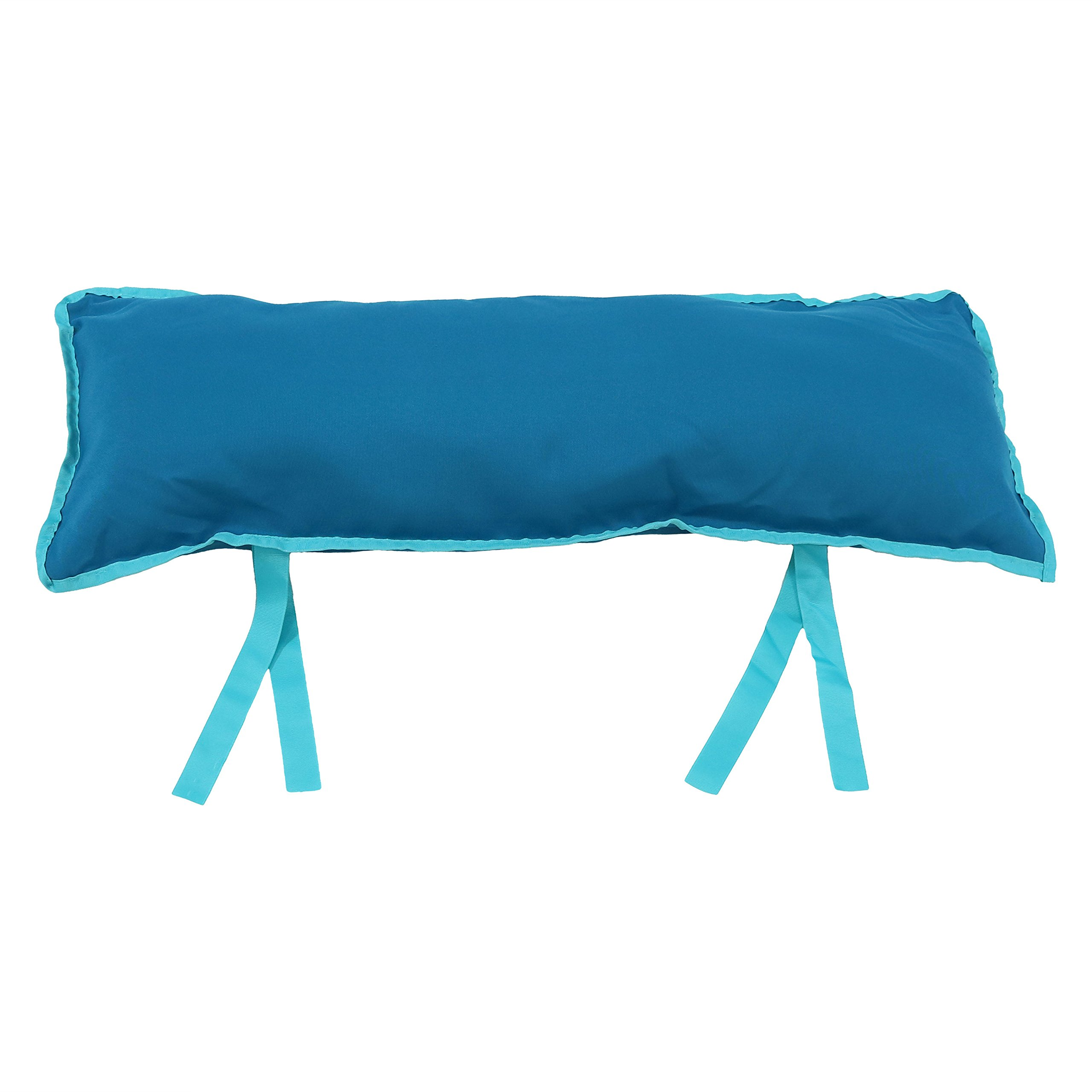 Sunnydaze Large Hammock Pillow with Ties, Outdoor Camping Pillow, Weather Resistant, Teal