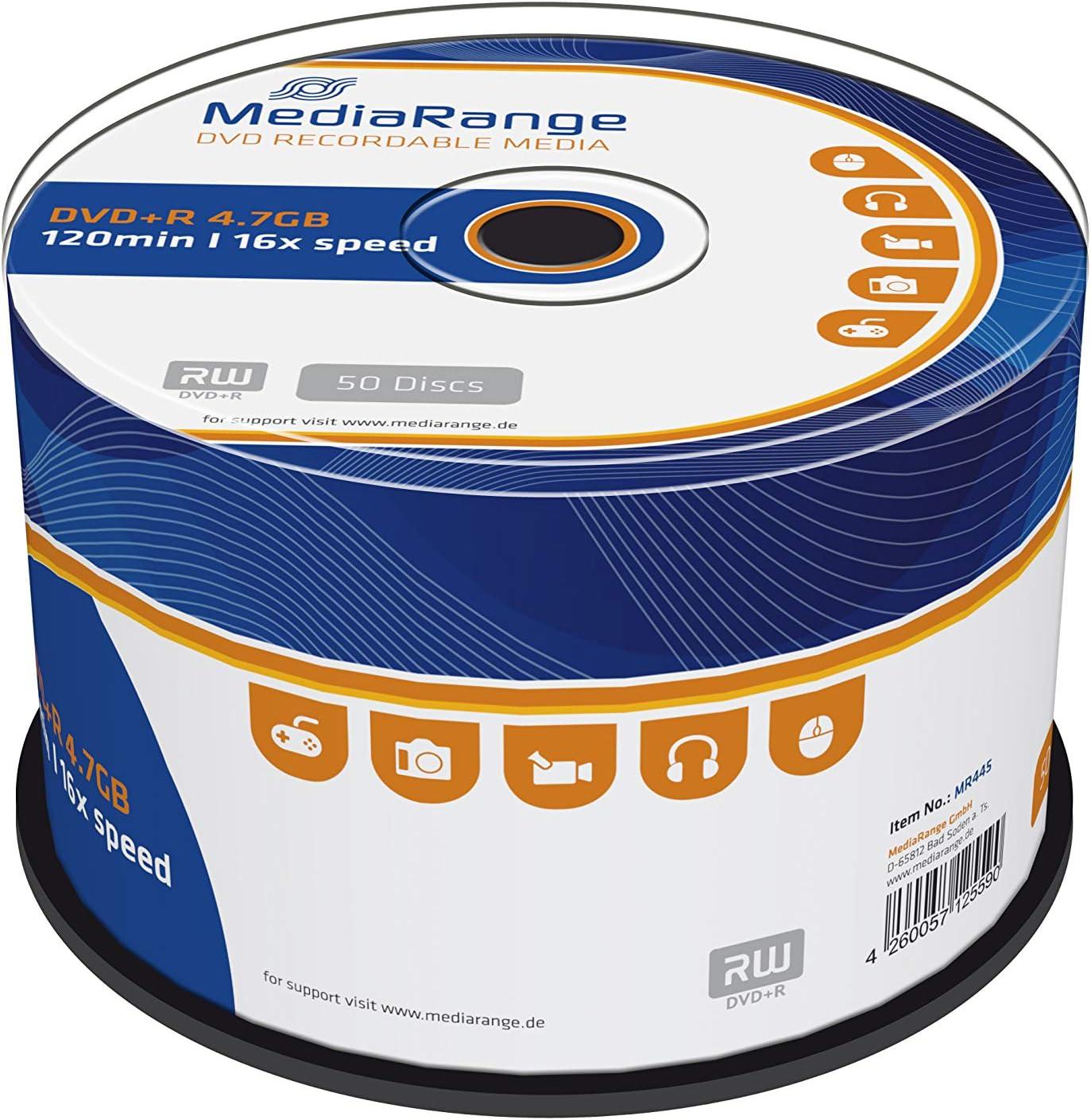 Mediarange Dvd R 4 7gb 120min 16 Fache Computer Zubehör